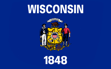 midwest: Flag of Wisconsin is a U.S. state located in the north-central United States, in the Midwest and Great Lakes regions