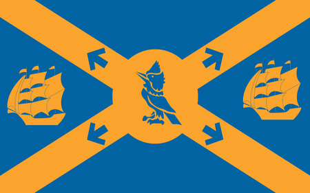 halifax: Flag of Halifax legally known as the Halifax Regional Municipality (HRM), is the capital of the province of Nova Scotia, Canada Stock Photo