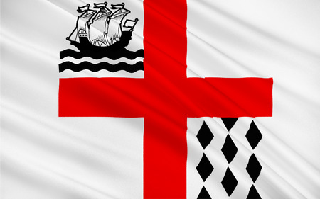 british columbia: Flag of Nanaimo is a city on Vancouver Island in British Columbia, Canada