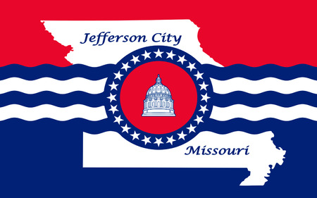 jefferson: Flag of Jefferson City is the capital of the U.S. state of Missouri