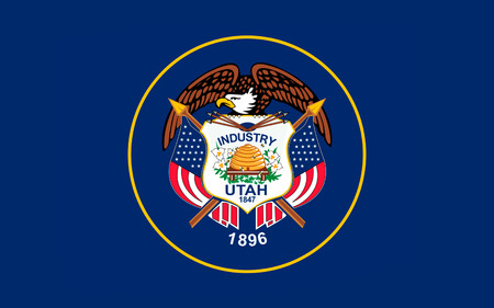 western united states: Flag of Utah is a state in the western United States.