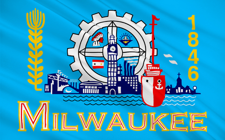 wisconsin flag: Flag of Milwaukee is the largest city in the State of Wisconsin and the fifth-largest city in the Midwestern United States