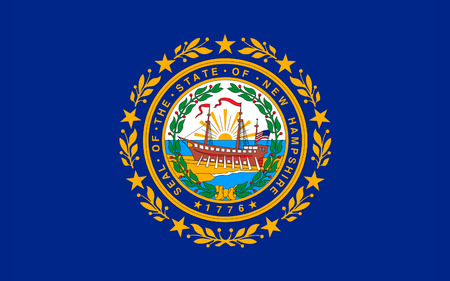 Flag of New Hampshire is a state in the New England region of the northeastern United States