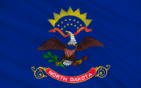 sioux: Flag of North Dakota is the 39th state of the United States