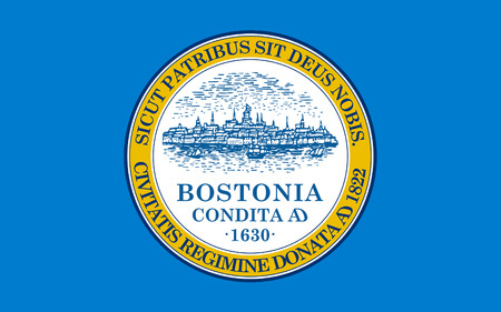 Flag of Boston is the capital and largest city of the Commonwealth of Massachusetts in the United States