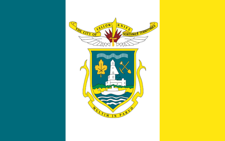 canadian state flag: Flag of Yellowknife is the capital city and largest community of the Northwest Territories (NT or NWT), Canada