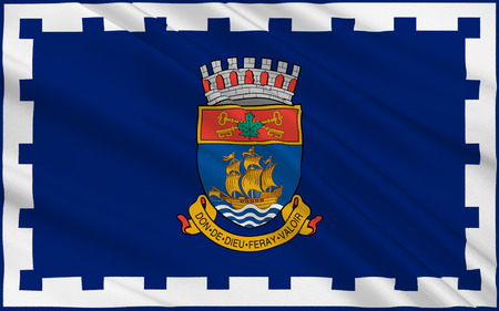 quebec: Flag of Quebec city is the capital of the province of Quebec in Canada
