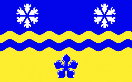 george: Flag of Prince George is the largest city in northern British Columbia, Canada Stock Photo