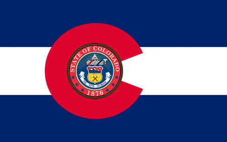 colorado mountains: Flag of Colorado, Denver - United States