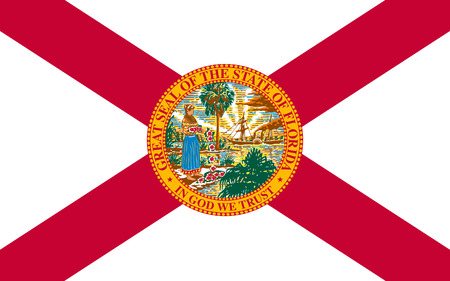 allegiance: Flag of Florida Listeni is a state located in the southeastern region of the United States Stock Photo