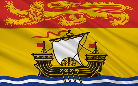constitutionally: Flag of New Brunswick is one of Canadas three Maritime provinces and is the only constitutionally bilingual province Stock Photo
