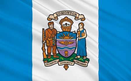 edmonton: Flag of Edmonton is the capital of Alberta, Canada