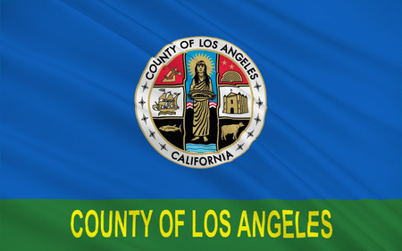eldorado: Flag of Los Angeles County, officially the County of Los Angeles  is the most populous county in the United States Stock Photo