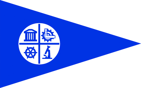 Flag of Minneapolis is the county seat of Hennepin County, and larger of the Twin Cities, the 16th-largest metropolitan area in the United States Banco de Imagens - 57348498