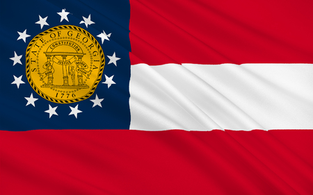empire state: Flag of Georgia is a state located in the southeastern United States