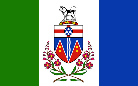 whitehorse: Flag of Yukon is the westernmost and smallest of Canadas three federal territories. Whitehorse is the territorial capital and Yukons only city