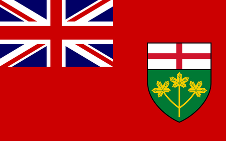 ontario: Flag of Ontario is one of the ten provinces of Canada, located in east-central Canada