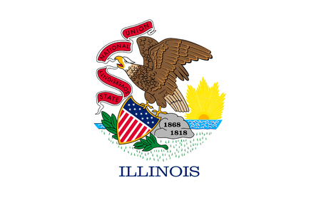 midwest: Flag of Illinois is a state in the midwestern region of the United States