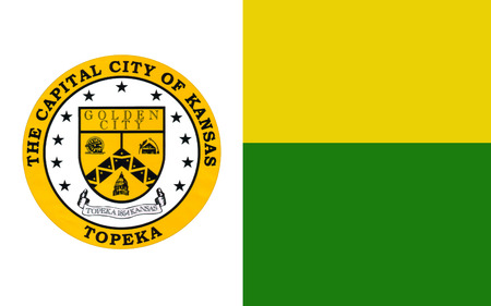 allegiance: Flag of Topeka is the capital city of the State of Kansas and the seat of Shawnee County, USA