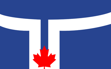 populous: Flag of Toronto is the most populous city in Canada, the provincial capital of Ontario Stock Photo