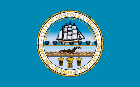 commonwealth: Flag of Norfolk is an independent city in the Commonwealth of Virginia, United States