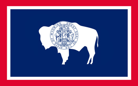 wave equality: Flag of Wyoming is a state in the mountain region of the Western United States
