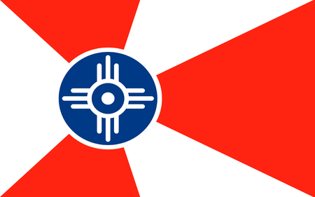 Flag of Wichita is the largest city in the State of Kansas and the 49th-largest city in the United States Stock fotó