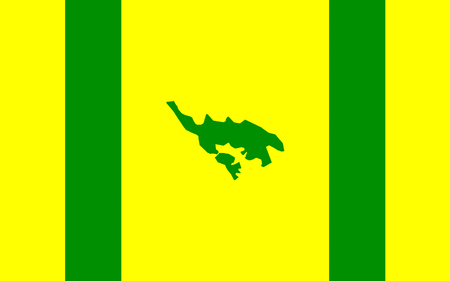 Flag of Isla Culebra (Snake Island) is an island-municipality of Puerto Rico Banco de Imagens