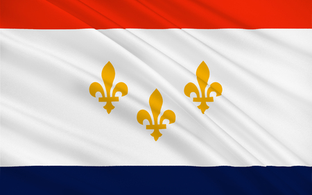 baton rouge: Flag of New Orleans is a major United States port and the largest metropolitan area in the state of Louisiana