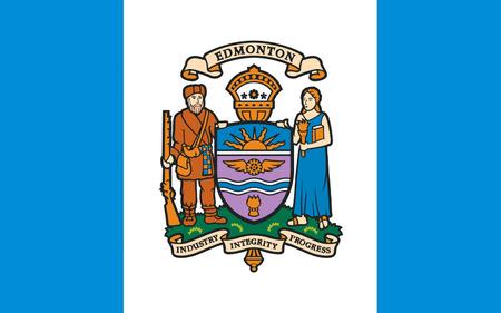 edmonton: Flag of Edmonton is the capital of Alberta, Canada