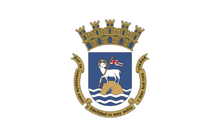 commonwealth: Flag of San Juan is the capital and most populous municipality in the Commonwealth of Puerto Rico, an unincorporated territory of the United States Stock Photo
