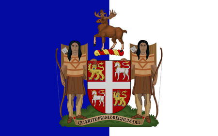 newfoundland: Flag of Newfoundland and Labrador is the most easterly province of Canada Stock Photo