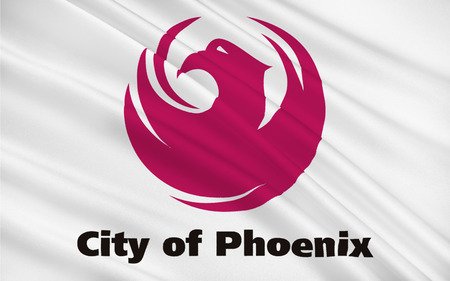 grand canyon: Flag of Phoenix - the capital and largest city of the US state of Arizona Stock Photo