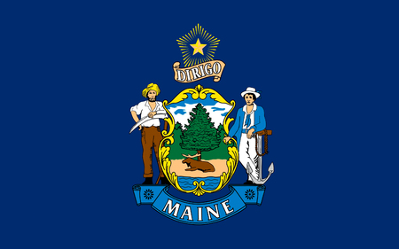 allegiance: Flag of Maine is a state in New England, in the United States