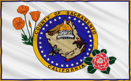 sierra nevada: Flag of Sacramento County is a county in the U.S. state of California