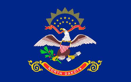 north dakota: Flag of North Dakota is the 39th state of the United States