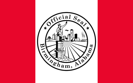 jefferson: Flag of Birmingham is the largest city in the U.S. state of Alabama. The city is the county seat of Jefferson County, USA.