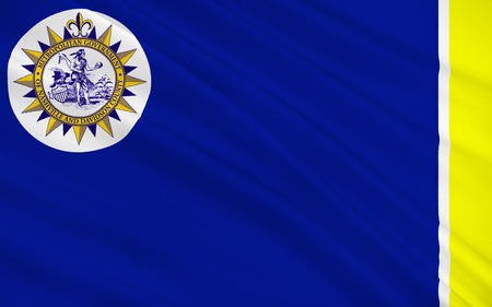 nashville: Flag of Nashville is the capital of the U.S. state of Tennessee and the county seat of Davidson County Stock Photo