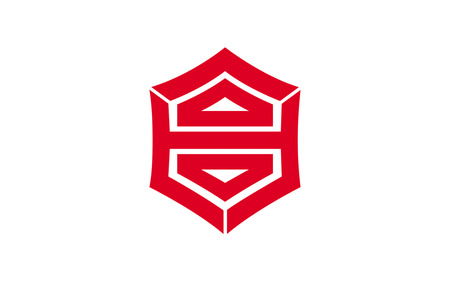 shikoku: Flag of Kochi is the capital city of Kochi Prefecture located on the island of Shikoku in Japan. 3D rendering