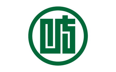 nip: Flag of Gifu Prefecture is a prefecture in the Chubu region of central Japan. 3D rendering