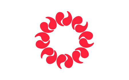 kanto: Flag of Saitama Prefecture is a landlocked prefecture of Japan located in the Kanto region of the island of Honshu. 3D rendering Stock Photo