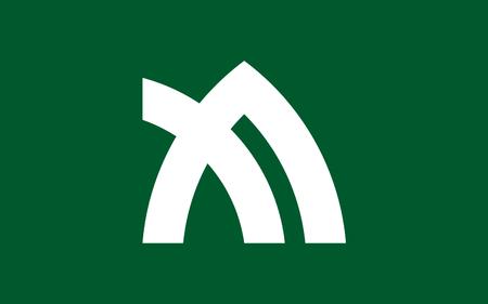 shikoku: Flag of Kagawa Prefecture is a prefecture of Japan located on Shikoku island. The capital is Takamatsu. 3D rendering Stock Photo