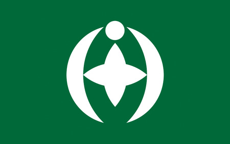 kanto: Flag of Chiba is the capital city of Chiba Prefecture, Japan. 3D rendering