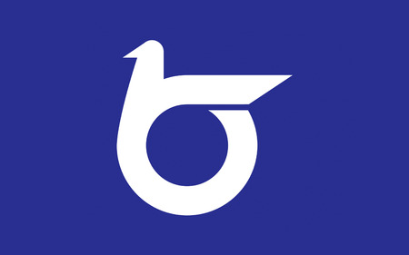 prefecture: Flag of Tottori Prefecture is a prefecture of Japan located in the Chugoku region. 3D rendering