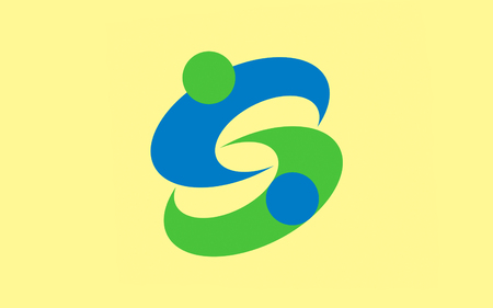 kyushu: Flag of Saga is the capital city of Saga Prefecture, located on the island of Kyushu, Japan. 3D rendering