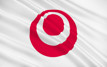 okinawa: Flag of Okinawa Prefecture is the southernmost prefecture of Japan. 3D rendering