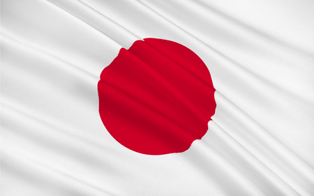 nippon: Flag of Japan is an island country in east Asia, 3D rendering Stock Photo