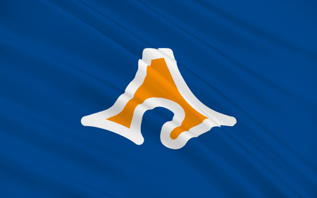 honshu: Flag of Shizuoka Prefecture is a prefecture of Japan located in the Ch?bu region of Honshu. 3D rendering