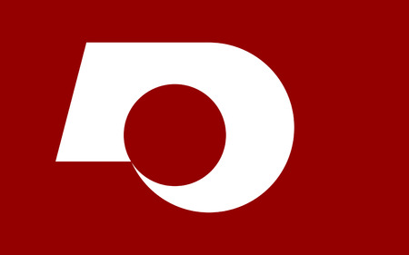 kyushu: Flag of Kumamoto Prefecture is a prefecture of Japan located on the island of Kyushu. 3D rendering
