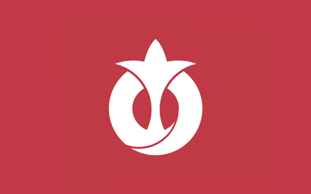 chubu: Flag of Aichi Prefecture is a prefecture of Japan located in the Chubu region. The region of Aichi is also known as the Tokai region. The capital is Nagoya. 3D rendering Stock Photo